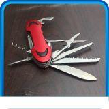Soem-Edelstahl-multi faltendes Jagd-Messer mit LED-heller Taschenlampe