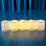 Миниые шикарные мелькая продукты свечки Xmas янтарного цвета формы Crator орнаментальные искусственние Votive