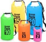 sacchetto asciutto impermeabile esterno dello zaino della tela incatramata del PVC 500d