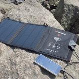 11W는 Foldable 태양 충전기 이중 USB 포트 일요일 힘 충전기 단식한다