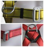 harness ancho de la carrocería de la seguridad de los hombres de la correa de cintura 6-Point con el acollador
