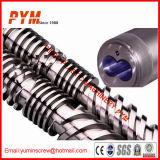 Pipe Extrusora bimetálico Plástico Extrusora de tornillo y barril