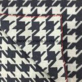 Tessuto doppio Black&White delle lane di Houndstooth del fronte
