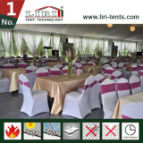 白いアルミニウムおよびPVC 500の人容量結婚式および党のための固体サイドウォールが付いている贅沢な結婚式のテント