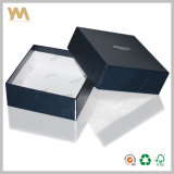 Коробка голубого подарка высокого качества упаковывая для ювелирных изделий