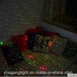 Modelo estrellado de la luz laser de la Navidad de la C.C. 5V de la dimensión de una variable del barril del roble mini rojo y verde para la decoración del jardín del paisaje de la etapa