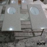 Подгонянный твердый поверхностный Countertop кухни Tesin каменный