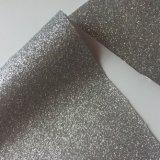 布の靴のラベルの印刷のための熱い溶解の接着剤のきらめきPUの革