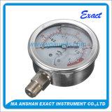كلّ [ستينلسّ ستيل] مقياس ضغط سائل يملأ ضغطة مقياس