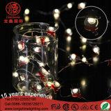 Luz de Natal a pilhas do diodo emissor de luz do fio de cobre do diodo emissor de luz 3V/4.5V/6V 3AA