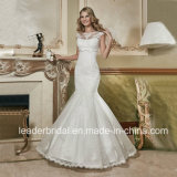 Robe nuptiale W15240 de V-Back de Sequins de robe de mariage de lacet de bateau