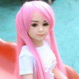 Muñecas lindas del amor del silicón de la muchacha del mini del sexo pecho plano de la muñeca para los hombres