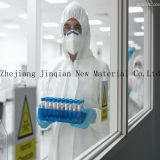Устранимая белая общая защитная ткань Nonwoven PP материала Coverall