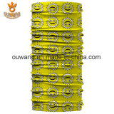 Bandana basso su ordinazione poco costoso di colore giallo di stampa di MOQ Digitahi