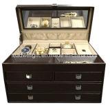 Caixa de jóia de couro luxuosa para o grande caso