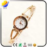 Montre-bracelet de quartz de femmes de mode de qualité et enrouler d'armure autour de la montre en cuir