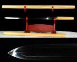 Het met de hand gemaakte Zwaard van Jpanese Tsurugi/Ken/het Dubbele Zwaard van de Rand