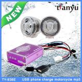 Sistema di allarme impermeabile di funzione della carica elettrica del giocatore del USB MP3 del motociclo