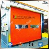 La tenda arancione rotola in su il portello ad alta velocità della saracinesca con il tipo della chiusura lampo
