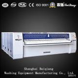 Machine repassante de blanchisserie industrielle complètement automatique de rouleaux du film publicitaire quatre
