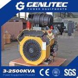 motor Diesel começando elétrico de refrigeração ar do cilindro 27HP gêmeo