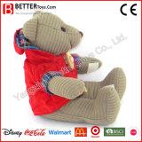 子供の愛らしいおもちゃのための布のASTMのぬいぐるみのプラシ天のおもちゃのテディー・ベア