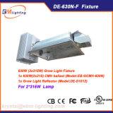 Systèmes de d'éclairage complets doubles de réflecteur/ballast de la serre chaude 630W