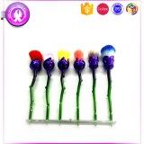女の子のための美しい6PCSローズの花の構成のブラシセットの最もよいギフト