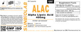 Acide Thioctic d'alpha usine acide lipoïque de Capesule 400mg GMP