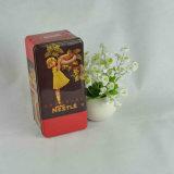 Rectangular caja de la lata para el chocolate y el regalo de la lata del caramelo de la caja de embalaje