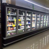 Ijskast van de Deur van het Glas van de Dranken van de supermarkt de Commerciële Verticale
