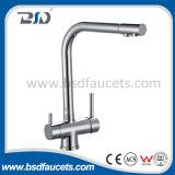 Bronze do Watermark dois punhos 3 Faucets do filtro de água bebendo das maneiras
