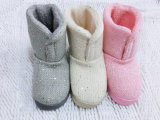 Women's Warm Soft Winter Knitted Indoor Slippers Knit Boots