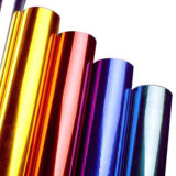 プラスチック(薄板にされた)熱い押すホイルのフィルムはFumoのプラスチックの箱の金または銀のボール紙ホイルに適用する