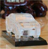 Personalizzare il mestiere a cristallo del modello dell'automobile per la decorazione dell'ufficio