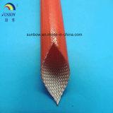 Sleeving revestido resistente solvente resistente da isolação da fibra de vidro da resina acrílica da abrasão