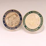 Fábrica feita sob encomenda da moeda do desafio do ouro da antiguidade do departamento