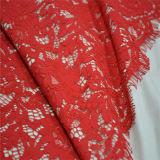 Rifornimenti di cucito ricamati floreali di Tecido della guipure del poliestere dei tessuti del merletto del ciglio del tessuto africano del cavo per il vestito dal panno