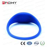 U Manchet van het Silicium RFID van de Code Gen2 de Blauwe in de Vorm van het Horloge