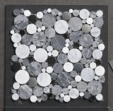 Mármol de cerámica azulejos de la pared de piedra Mosaicos (SWD15)