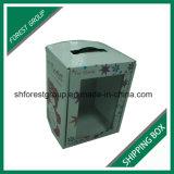 Caixa ondulada do empacotamento e de transporte da flor da prova da água com punho