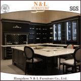 N et L porte classique de cuisine de modèle de chêne de compartiment en bois solide