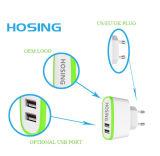 이중 포트 USB 5V는 비용을 부과 휴대용 여행 힘 충전기 단식한다