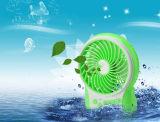 Портативный поручая вентилятор USB миниый с ветром 3 уровней быстро проходить-Зеленым