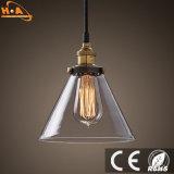 Lámpara pendiente romántica del vidrio 5 W 90-260V LED del restaurante