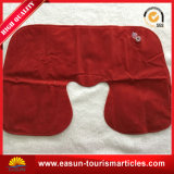 Custom Logo Printing Red Flocked PVC Inflatable Pillow Promotional