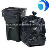 高品質によってカスタマイズされるサイズの環境に優しく黒いHDPEのごみ袋