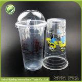 500ml kundenspezifische WegwerfplastikBoba Cup mit Kappen