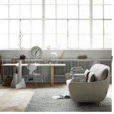 Nordisches einfaches Favn Sofa Coquille Sofa-Mehrpersonensofa-Gewebe-Sofa