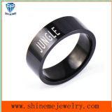 Anillo plateado negro del acero inoxidable de la manera de la joyería de Shineme (SSR2779)